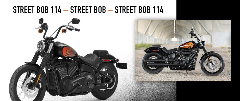 The 2021 Harley-Davidson Street Bob is a softail motorcycle because of its rear suspension system.