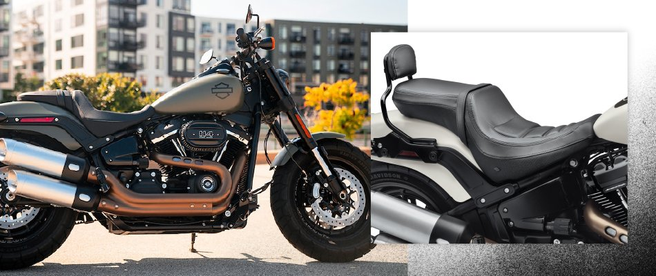 A new motorcycle seat is an accessory that can make a motorcycle more comfortable.
