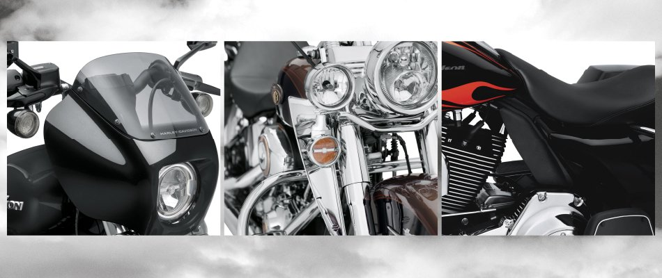 One must-have motorcycle accessory is a windshield that can protect a rider.
