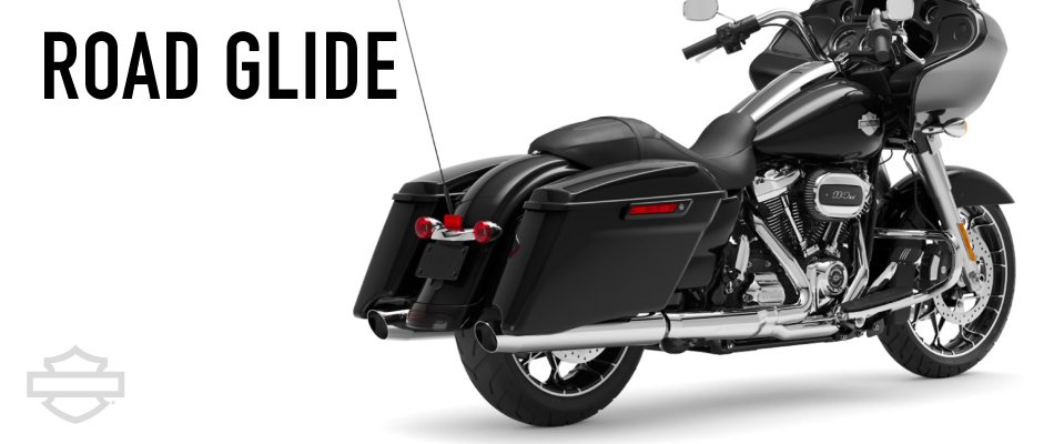 The Harley-Davidson Road Glide is the most popular model currently in production